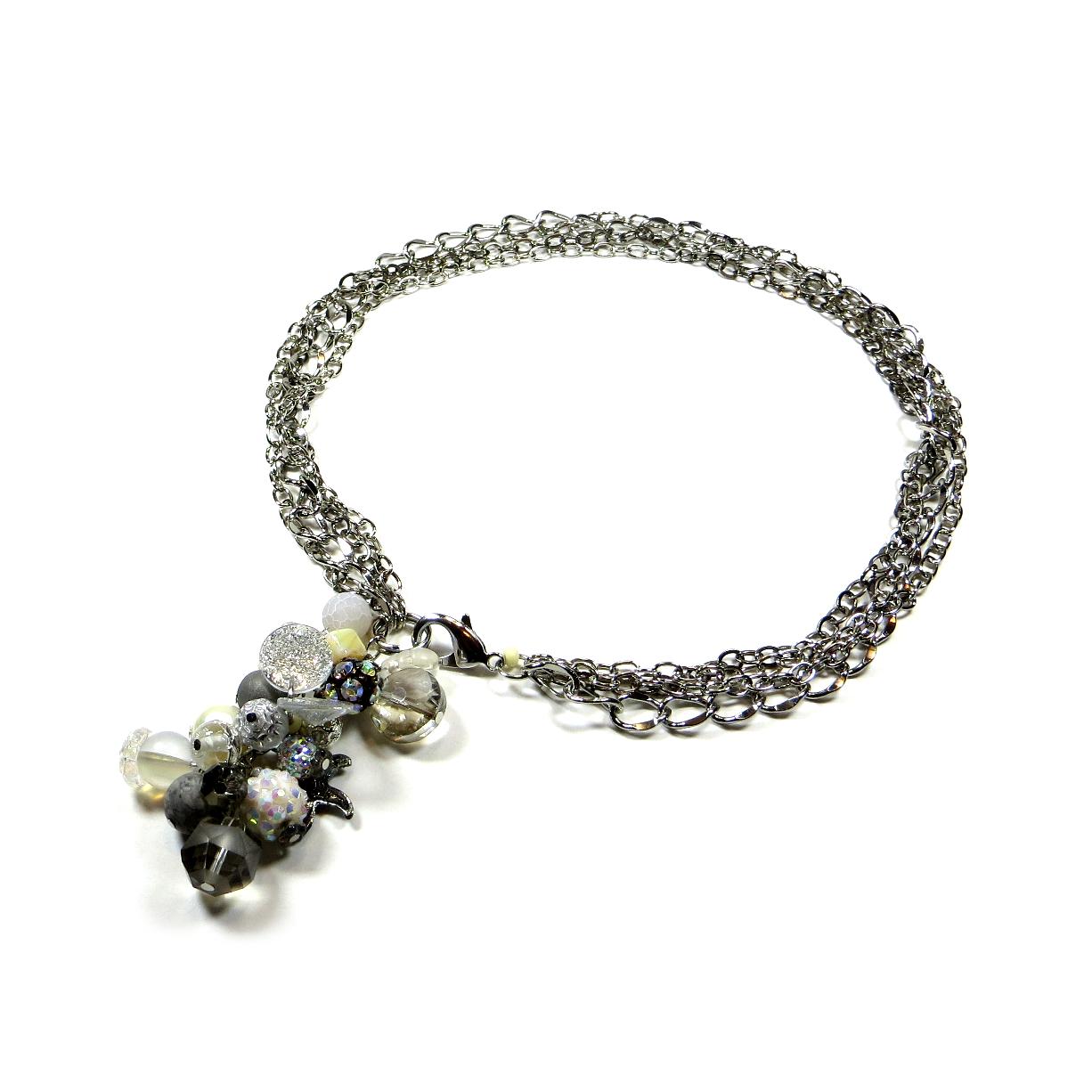Cluster pendant necklace glamjulz cluster pendant necklace aloadofball Images