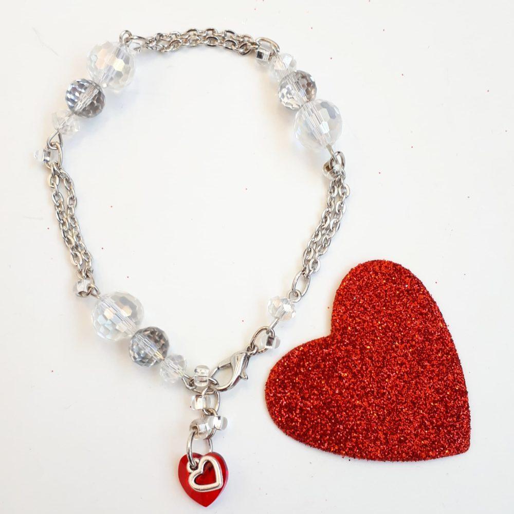 All You Need Is Love Swarovski Heart Bracelet